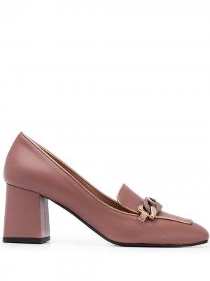 Туфли с цепочкой Pollini. Цвет: розовый