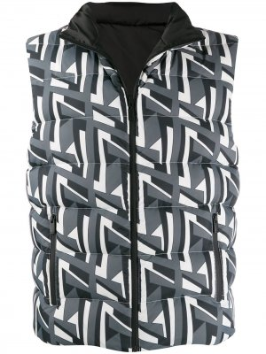 Двусторонний стеганый жилет Fendi. Цвет: серый