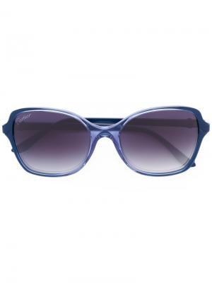 Крупные солнцезащитные очки Cartier Eyewear. Цвет: синий