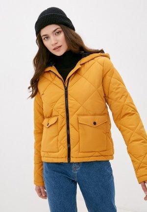 Куртка утепленная Noisy May. Цвет: желтый