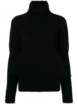 Ruffle sleeve sweater Antonio Berardi. Цвет: черный