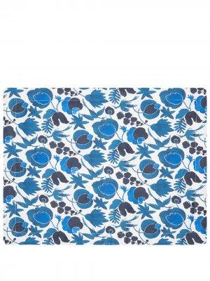 Набор из двух салфеток под приборы с цветочным принтом La Doublej. Цвет: синий