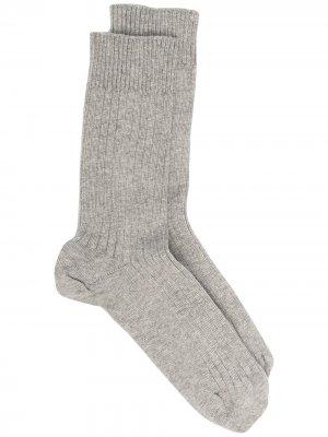 Носки в рубчик Baserange. Цвет: серый