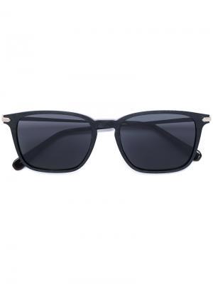 Солнцезащитные очки с квадратной оправой Brioni. Цвет: черный
