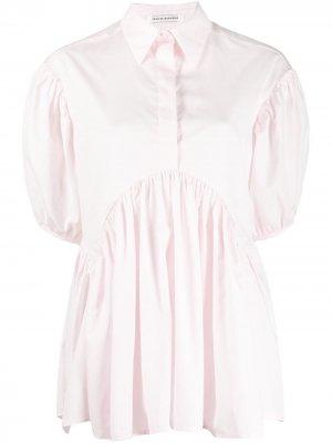 Блузка Ellie с объемными рукавами Cecilie Bahnsen. Цвет: розовый