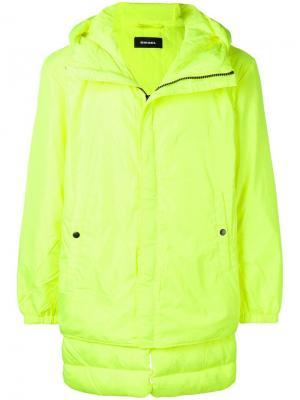 Утепленная куртка Diesel. Цвет: желтый