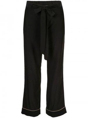 Пижамные брюки с поясом Kiki de Montparnasse. Цвет: черный
