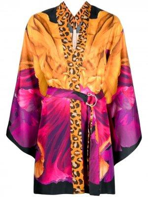 Блузка-кимоно с принтом Maria Lucia Hohan. Цвет: розовый