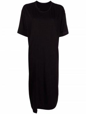 Ys длинное платье-футболка Y's. Цвет: черный