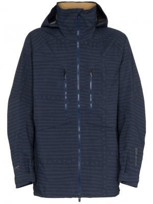 Куртка с капюшоном Gore-Tex Burton Ak. Цвет: синий