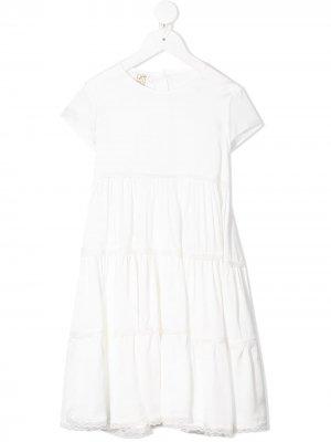 Caffe Dorzo ярусная юбка Caffe' D'orzo. Цвет: белый