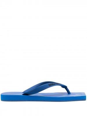 Шлепанцы с принтом и логотипом Nina Ricci. Цвет: синий