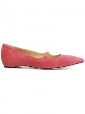 Балетки с заостренным носком Paul Andrew. Цвет: розовый и фиолетовый