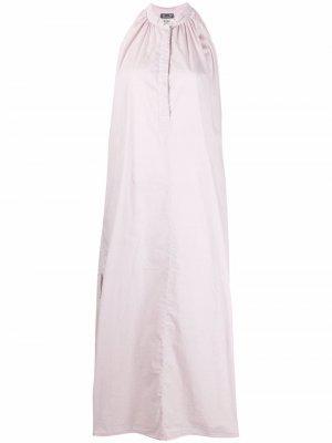 Halterneck stretch-cotton midi dress Kristensen Du Nord. Цвет: фиолетовый