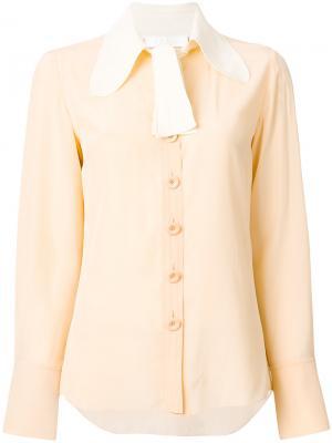 Блузка с контрастным воротником Chloé. Цвет: нейтральные цвета