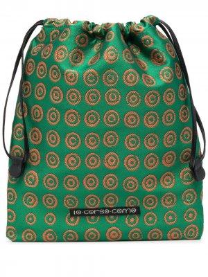 Косметичка с геометричным принтом 10 CORSO COMO. Цвет: зеленый