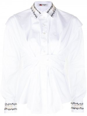 Рубашка с завязками Ports 1961. Цвет: белый
