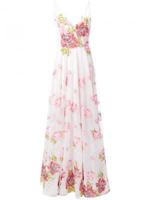 Long rose dress Marchesa Notte. Цвет: белый