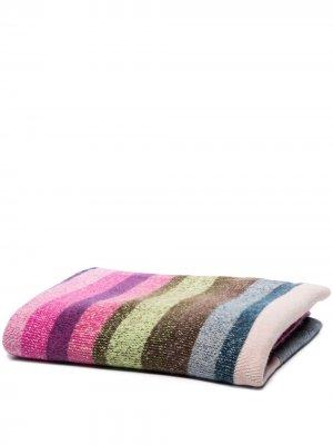 Кашемировое одеяло в полоску The Elder Statesman. Цвет: розовый