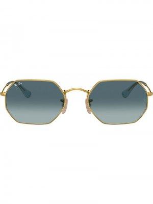 Солнцезащитные очки RB3548N в восьмиугольной оправе Ray-Ban. Цвет: золотистый