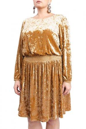 Платье LACY. Цвет: золотой