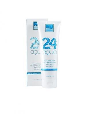 Увлажняющий массажный крем для лица / без масла Аква 24 Beauty Style. Цвет: белый