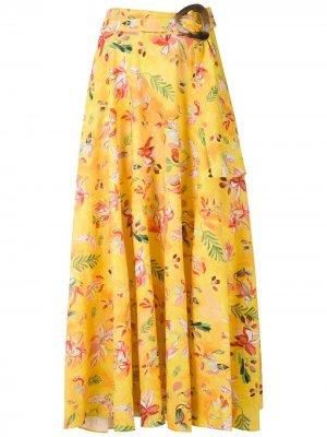 Юбка Dora с принтом Isolda. Цвет: желтый