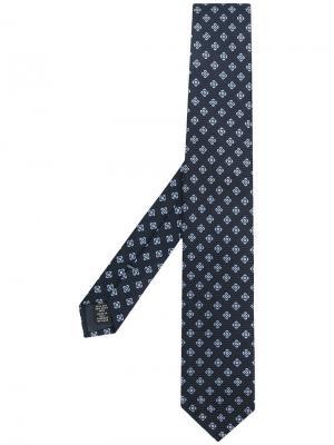 Patterned scarf Ermenegildo Zegna. Цвет: синий