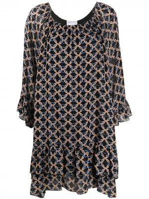 Платье с принтом Blumarine. Цвет: черный