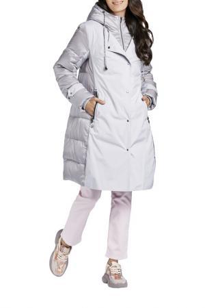 Пальто D`IMMA. Цвет: серо-сиреневый