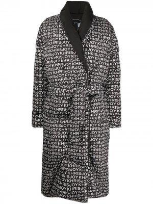 Стеганое пальто-халат Khrisjoy. Цвет: черный