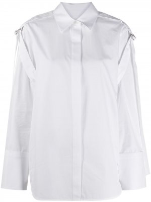 Рубашка с длинными рукавами и пряжками Helmut Lang. Цвет: белый