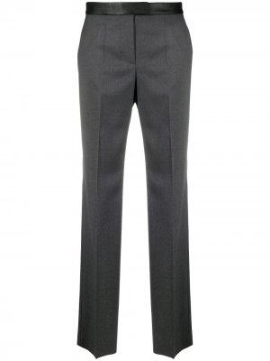 Прямые брюки с завышенной талией BOSS. Цвет: серый