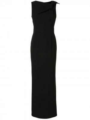 Вечернее платье с драпировкой Paule Ka. Цвет: черный