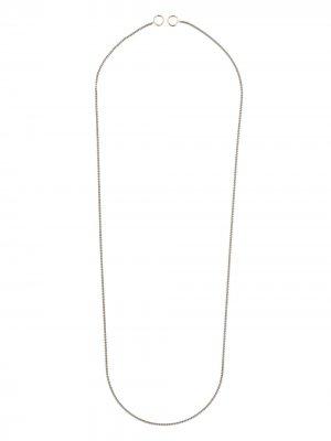 Серебряное колье Marla Aaron. Цвет: серебристый