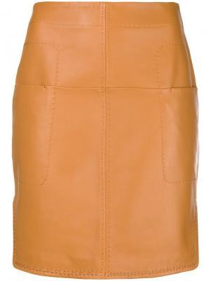 Short fitted skirt Carven. Цвет: коричневый