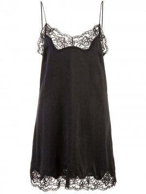 Платье-комбинация Brighton Alice+Olivia. Цвет: черный