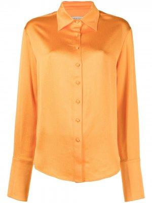Рубашка Lana с манжетами Anna Quan. Цвет: оранжевый