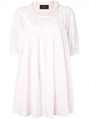 Блузка с искусственным жемчугом Simone Rocha. Цвет: розовый