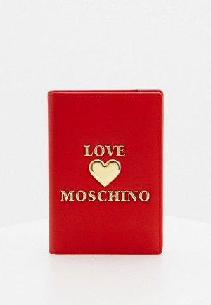 Обложка для паспорта Love Moschino. Цвет: красный