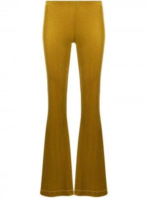 Расклешенные бархатные брюки Antonella Rizza. Цвет: желтый