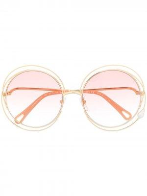 Солнцезащитные очки Carlina Chloé Eyewear. Цвет: золотистый