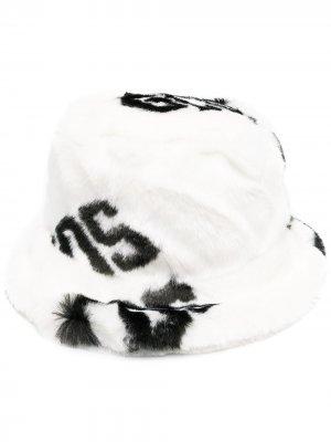 Фактурная панама с логотипом Gcds. Цвет: белый