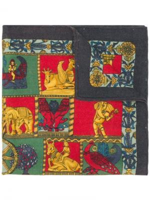 Шарф с принтом Hermès Vintage. Цвет: разноцветный