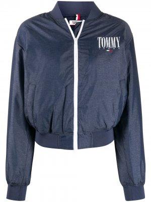 Бомбер с логотипом Tommy Jeans. Цвет: синий