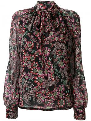 Блузка с цветочным принтом Giambattista Valli. Цвет: разноцветный