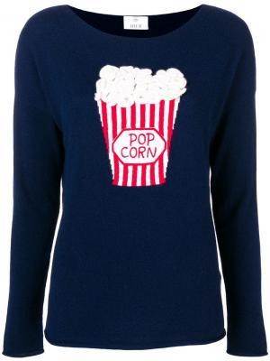 Popcorn intarsia jumper Allude. Цвет: синий