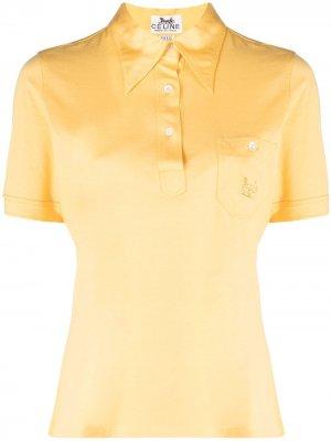 Рубашка поло 1970-х годов с вышитым логотипом Céline Pre-Owned. Цвет: желтый