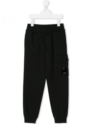 Goggle detail track trousers Cp Company Kids. Цвет: черный