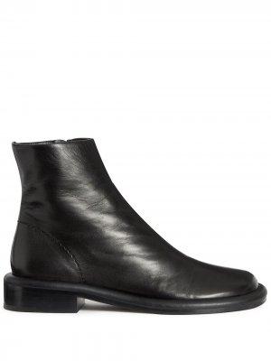 Ботинки на молнии с закругленным носком Proenza Schouler. Цвет: черный